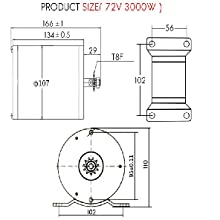 72V 3000W With Foot Motor