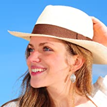 Black and White Genuine Panama Hat Band Adjustable Size Gamboa Horsehair Band
