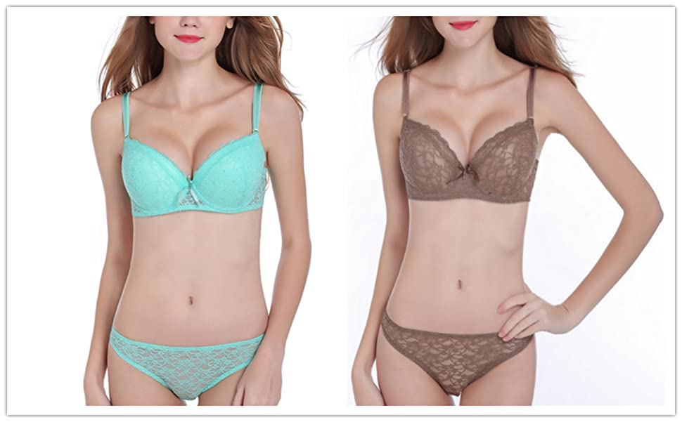 a5ebe3dd48 Etosell Women s Lingerie Sexy Push up Lace Bra Underwear Bikini ...