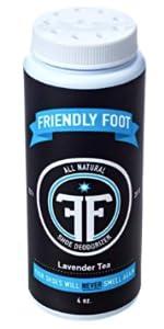 Friendly Foot Natural Shoe Deodorizer Disinfectant Spray 4oz Lavender Tea Tree