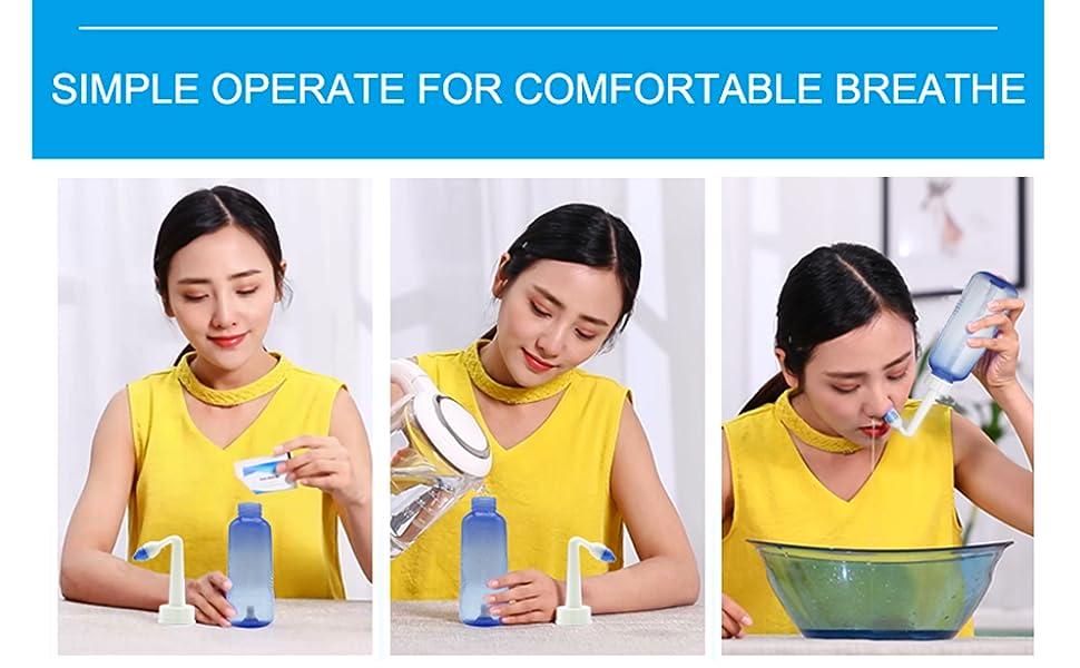 Amazon.com: Tonelife Boquilla (2) Botella de lavado nasal ...