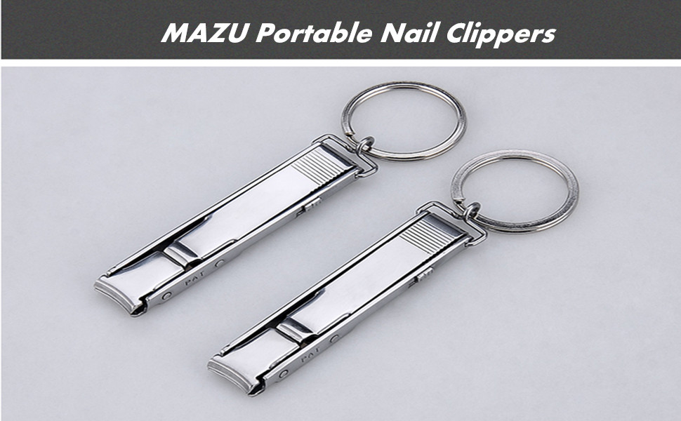 Amazon.com : MAZU Portable Nail Clippers With Nail File for Key ...