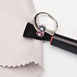 jewelry clean cleaning guide rules care cloth brush ring pendant earring bracelet cz crystal diamond