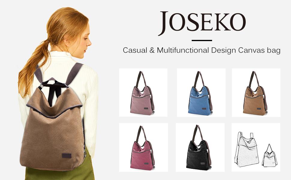 d60fe3be4afbd Amazon.com  JOSEKO Canvas Rucksack