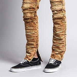 acid wash denim jeans gold cool streetwear fashion clothes pants