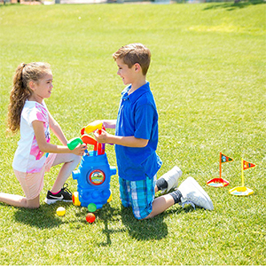 outdoor golf set for kids pretend play amazon toyvelt