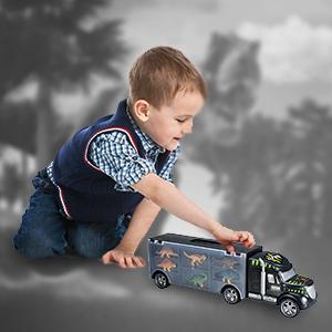 kid truck dinosaur dinotruck carrier pieces outdoor