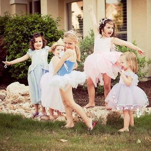 social girls play pretend princess