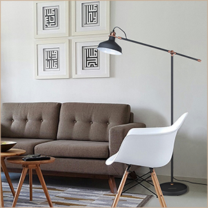 A Nice, Low Cost, And Functional Metal Floor Lamp To Meet Your Basic  Lighting Needs. With High Quality Metal Lampshade And Base, Enduring, ...