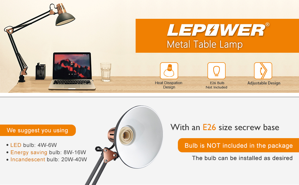 lepower metal desk lamp