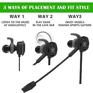 3.5mm earphone Sweatproof Sport Headphones Earbuds