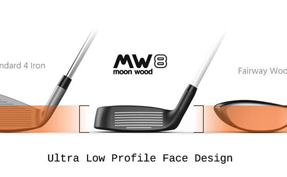 MW8 Moon Wood – Premium Golf Fairway Wood for Men and Women – Golf Club Includes Headcover – Legal for Tournament Play