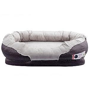 Amazon.com : BarksBar Medium Gray Orthopedic Dog Bed - 32