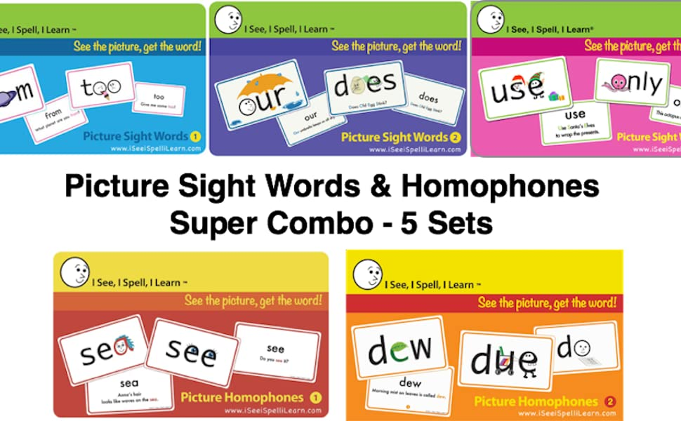 I See, I Spell, I Learn - Super Combo Picture Flashcards