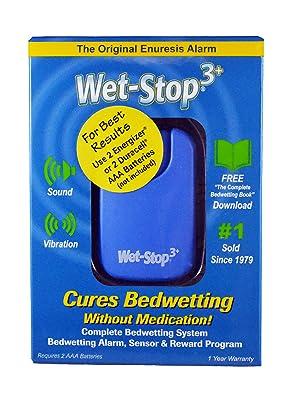 Wet Stop 3 Bedwetting Alarm (Blue) 6 Alarms & Vibration, Enuresis Alarm, Incontinence, Potty Training, 100% Satisfaction Guaranteed