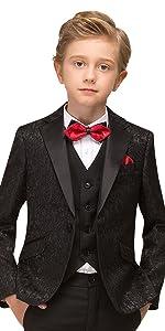 ELPA ELPA Sequins Suits for Boys Christmas Shiny Dress Suit Slim Fit Party Wedding Tuxedo Taimei Clothes