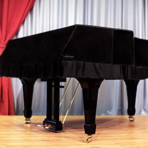 Velvet Black Grand Piano Cover