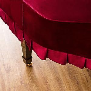 Red Velvet Grand Piano Dust Cover