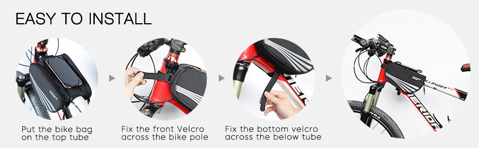 mountain bike bags frame,cycling phone bag,bike top tube bag,bike pouch frame,waterproof bag bike