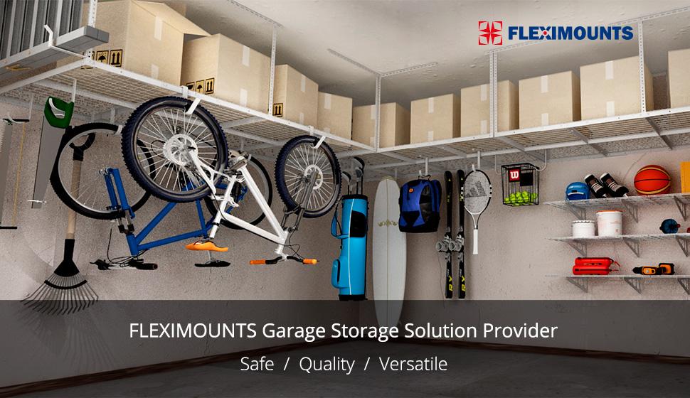 Overhead Garage Storage Organization Ceiling Rack Adjustable Hanging