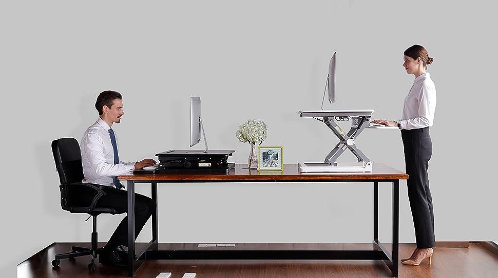 Amazoncom FlexiSpot Standing Desk 41 Cubicles Corner Desk