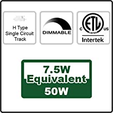 H Type. Dimmable.  ETL listed.