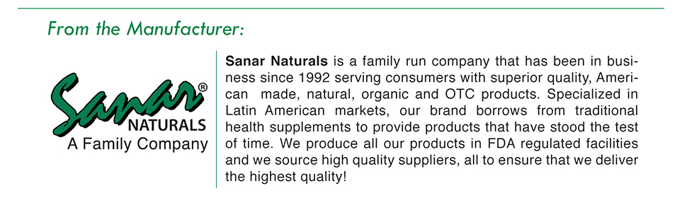 family company sanar naturals superior quality natural organic hispanic supplements traditional