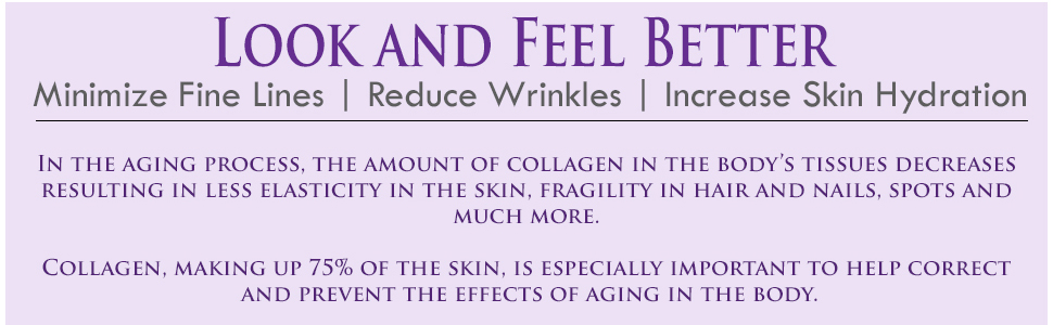 look and feel better minimize fine lines reduce wrinkles increase skin hydration aging process skin