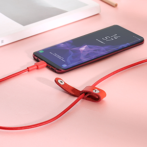 USB C to USB C Cable AUKEY 6.6ft Type C Cable Nylon Aramid Fiber Fast Charging Cord Charger CB-CD19