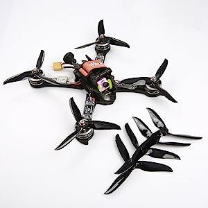 HQ 5-Zoll 5045 V1S 5x4.5x3 3-Blatt FPV Multicopter Drohne Racing Props Propeller
