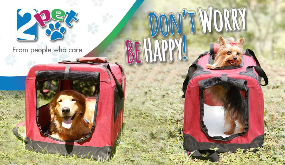 2pet Foldable Dog Crate Soft Easy To Fold Carry Dog Crate For Indoor Outdoor Use Comfy Dog Home Dog Travel Crate Strong Steel Frame