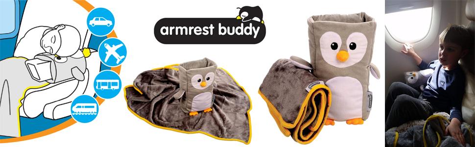 Roamwild armrest buddy kids travel pillow