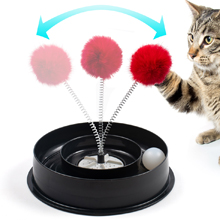Kitten Toys With Fun Spinning Catnip Odour Release Compartment /& Non Slip Feet Roamwild 4 IN 1 Play Bowl Quiet Cat Toy Cats Interactive Play Stimulating Ball Track Toy With Spring Pom-Pom