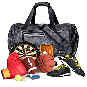 dc361fbdbd3d Travel Duffel Bag Backpack Sports Gym with Shoes Compartment Large ...