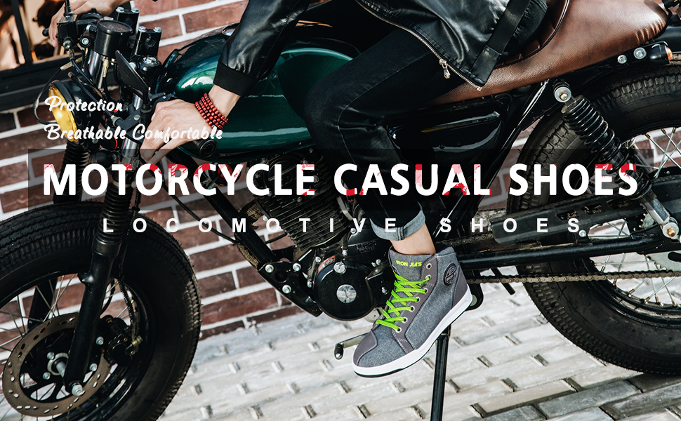 motorcycle casual shoes