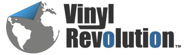 Vinyl Revolution logo decals stickers macbook skins macbook decals laptop stickers