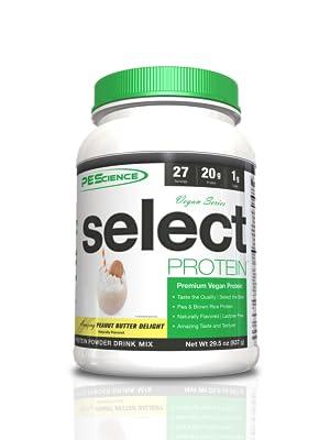 vegan protein gluten soy dairy free muscle building taste pescience stevia powder peanut butter