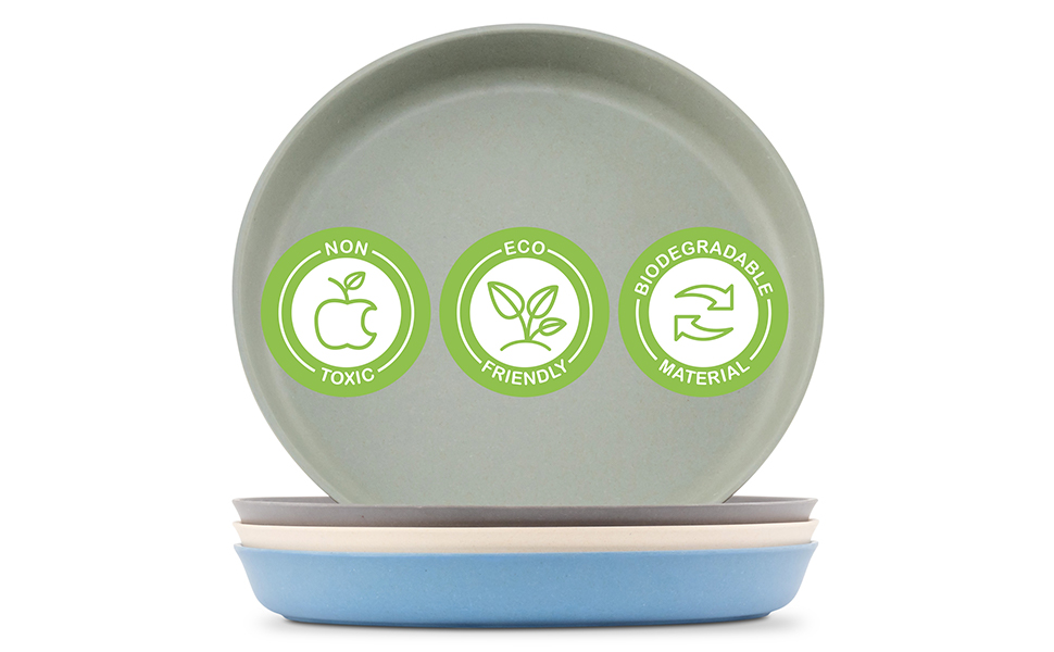 non-toxic biodegradable bamboo plates for kids
