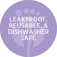 leakproof reusable dishwasher safe