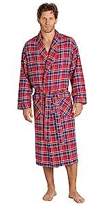 Mens Flannel Robe