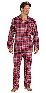 Flannel Pajama Set for Men