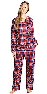 Flannel Pajama Set for Women