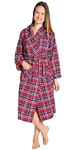 Womens Flannel Robe