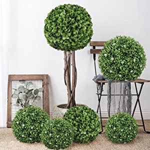 Artifiical boxwood topiary ball
