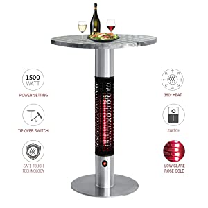 Electric Infrared Heater Table in One
