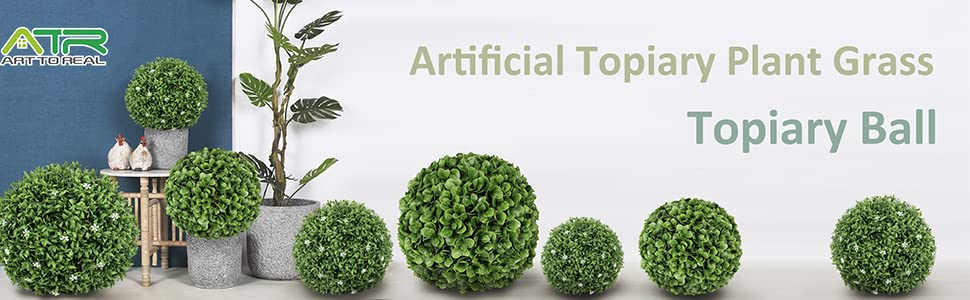 artificial topiary plant grass topiary ball