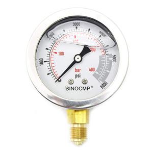 Hydraulic Pressure Gauges Kit - SINOCMP Hydraulic Gauge Kit for Komatsu  Excavator, 10 Couplings, 4 160cm Long Test Hoses and 4 Pressure Gauges,