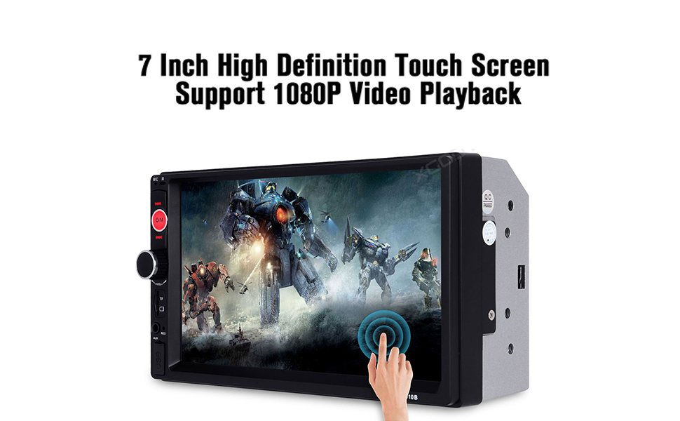 7 Inch High Definition Touch Screen. Support 1080P Video Playback