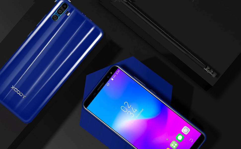 Xgody 6 Inch Android 7.0 Unlocked Smartphone Dual Sim HD Screen 16GB+1GB Celulares Desbloqueados
