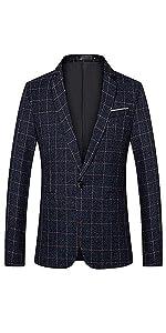 men's plaid tuxedo blazer